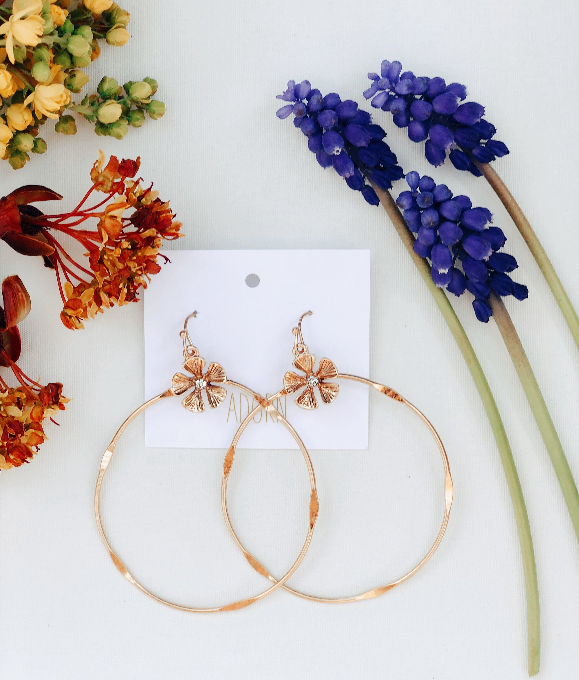 Dancing Daisy Gold Hoops