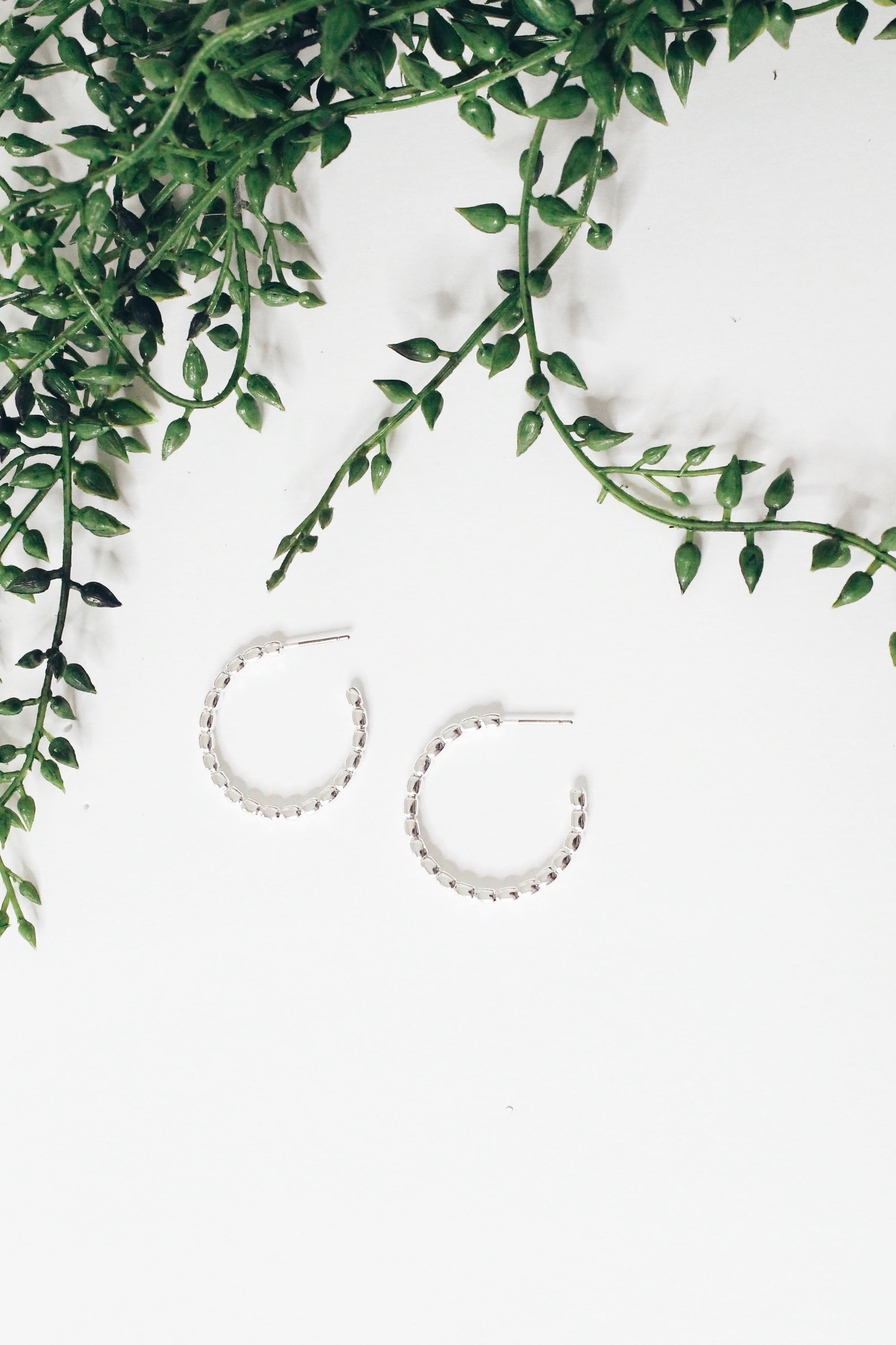 Linked Together Hoops - Silver
