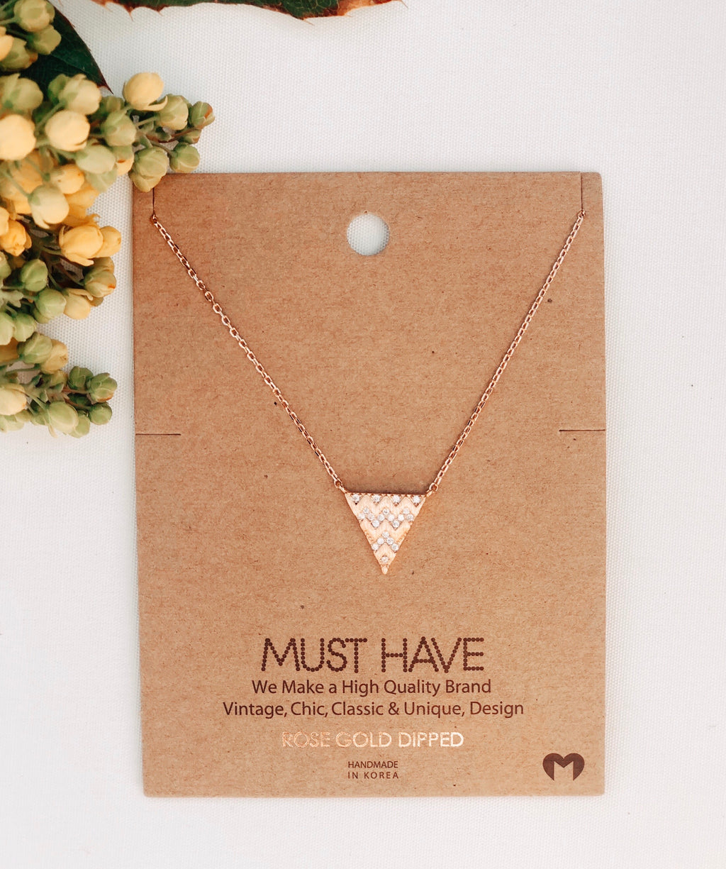 Wavy Angles Gold Necklace
