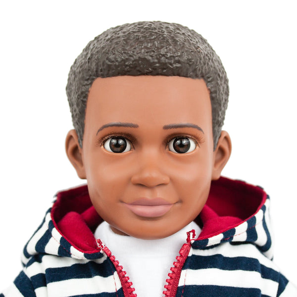 "Billy Action Doll by Boy Story, 18"" boy doll, an African American doll for boys and for girls"