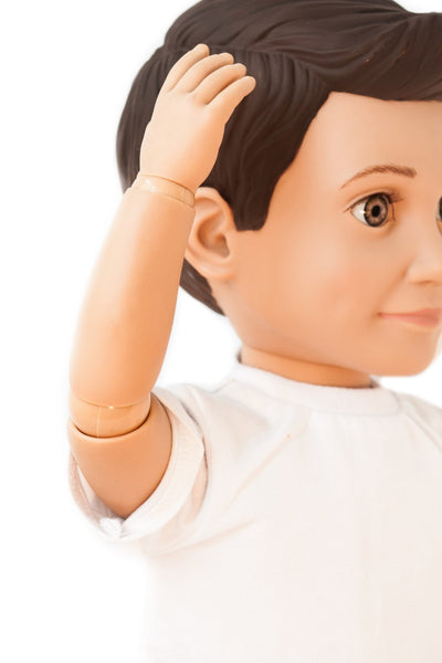 Mason Action Doll by Boy Story, Ball Jointed Caucasian and Hispanic Boy Doll for Boys and Girls