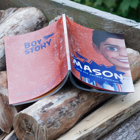 "Mason and the Perfect Moment Book - Boy Story 18"" boy dolls for boys and girls"