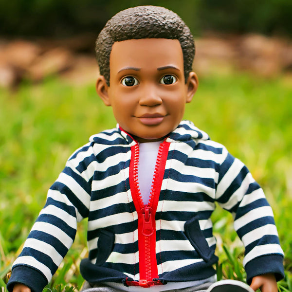 "Billy Action Doll, 18"" boy doll, an African American doll for boys and for girls"