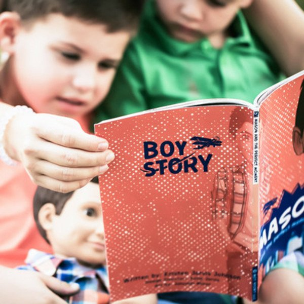 Boy Story Action Dolls and Books