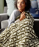 Bernat Blanket Let It Slip Knit Blanket