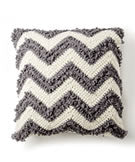 Bernat Blanket Loop Stitch Chevron Crochet Pillow