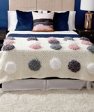 Bernat Blanket Loopy Dots Crochet Blanket