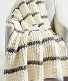 Bernat Blanket Pin Stripe Crochet Blanket