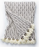 Bernat Blanket Trellis and Tassels Knit Afghan