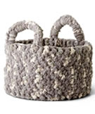 Bernat Blanket Woven Look Crochet Basket