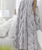Cleverly Cabled Throw