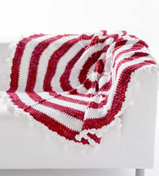 Peppermint Stripes Throw