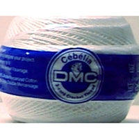 DMC Cebelia Crochet Thread Bright White Size 20