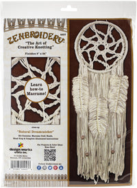 Zenbroidery Macrame Wall Hanging Kit Natural Dream Catcher