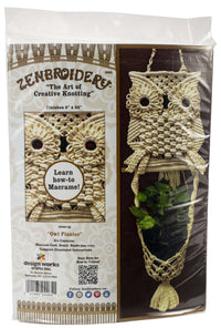 Macrame Wall Hanging Kit Owl Planter
