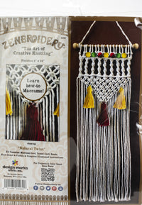 Zenbroidery Macrame Wall Hanging Kit Natural Twist