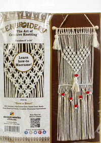 Zenbroidery Macrame Wall Hanging Kit Have A Heart