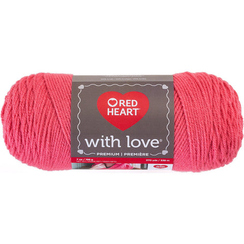 Red Heart® With Love Yarn Papaya