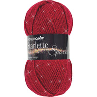 Mary Maxim® Starlette Sparkle Yarn Ruby