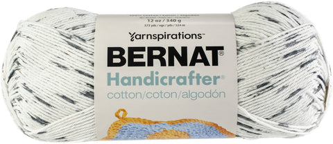 Bernat Handicrafter Cotton Yarn Ombres & Prints 340gm Salt & Pepper Print
