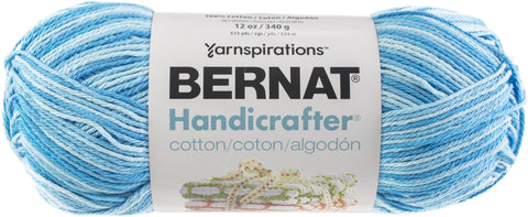 Bernat Handicrafter Cotton Yarn Ombres & Prints 340gm Swimming Pool