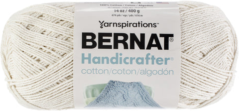 Bernat Handicrafter Cotton Yarn Solids Off White 400gm