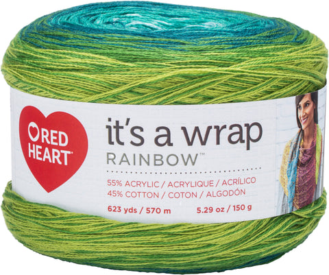 Red Heart® It's A Wrap Rainbow Yarn Seaglass