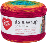 Red Heart® It's A Wrap Rainbow Yarn Fiesta
