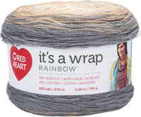 Red Heart® It's A Wrap Rainbow Yarn Foggy