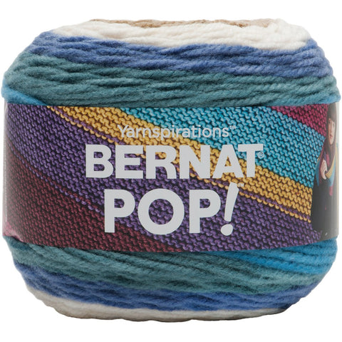 Bernat Pop Yarn Birch Bark And Blue