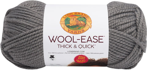 Lion Brand Wool-Ease Thick & Quick Prints Bonus Bundle Yarn Slate