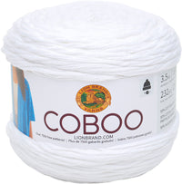 Lion Brand Coboo Yarn White