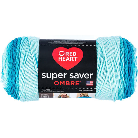 Red Heart® Super Saver Ombré™ Yarn Scuba