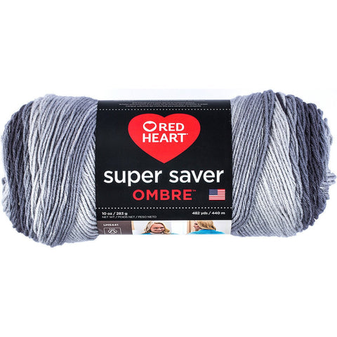 Red Heart® Super Saver Ombrè Yarn Anthracite