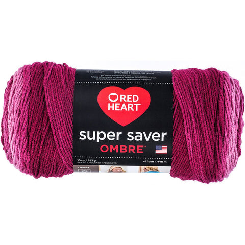 Red Heart® Super Saver Ombré Yarn Anemone