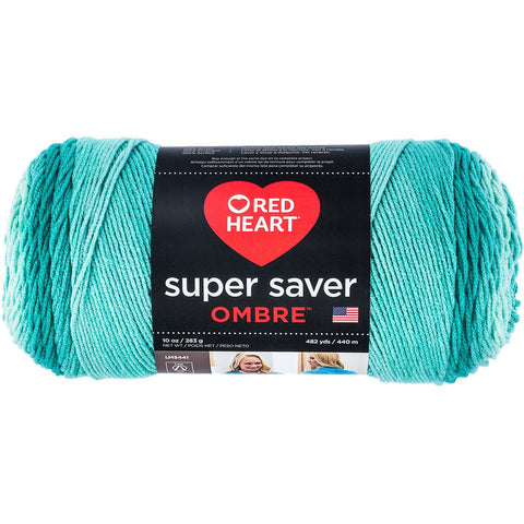Red Heart® Super Saver Ombré Yarn Spearmint