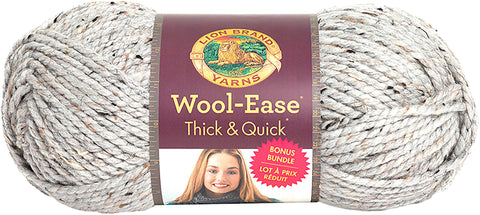 Lion Brand® Wool-Ease® Thick & Quick® Bonus Bundle Yarn Grey Marble