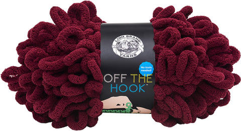 Lion Brand Off The Hook Yarn Cherry Bomb
