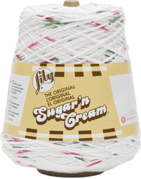 Lily Sugar'n Cream Cone Yarn Holly Jolly
