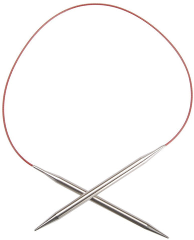 Red Lace Stainless Steel Circular Knitting Needles 24in Size 13 9mm