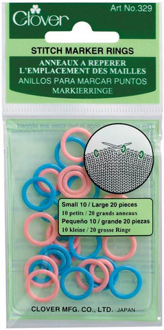 Stitch Marker Rings Small and Large 30/Pkg