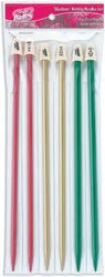 Silvalume 10in Knitting Needles Gift Set 3 Pairs Size 9, 10 and 10-1/2