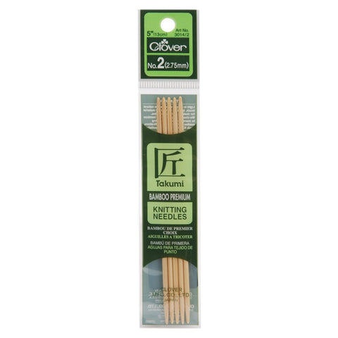 Bamboo Double Point Knitting Needles 5in Size 2 (2.75mm)