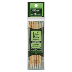 Bamboo Double Point Knitting Needles 5in Size 9 (5.5mm)