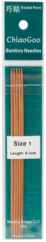 Double Point Dark Patina Knitting Needles 6in Size 1 2.25mm 5pk