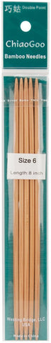 Double Point Dark Patina Knitting Needles 8in Size 6 4mm 5pk