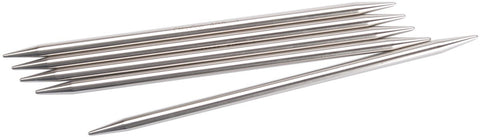 Double Point Stainless Steel Knitting Needles 6in Size 9 5.5mm 5pk
