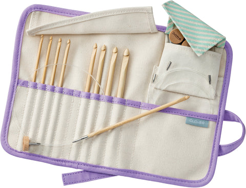 Clover Bamboo Interchangeable Tunisian Crochet Hook Set Takumi