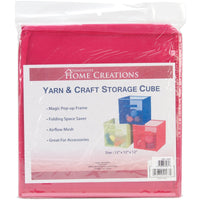 Yarn & Craft Storage Cube Fuchsia 12inX12inX12in