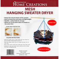 Mesh Hanging Sweater Dryer 26in White